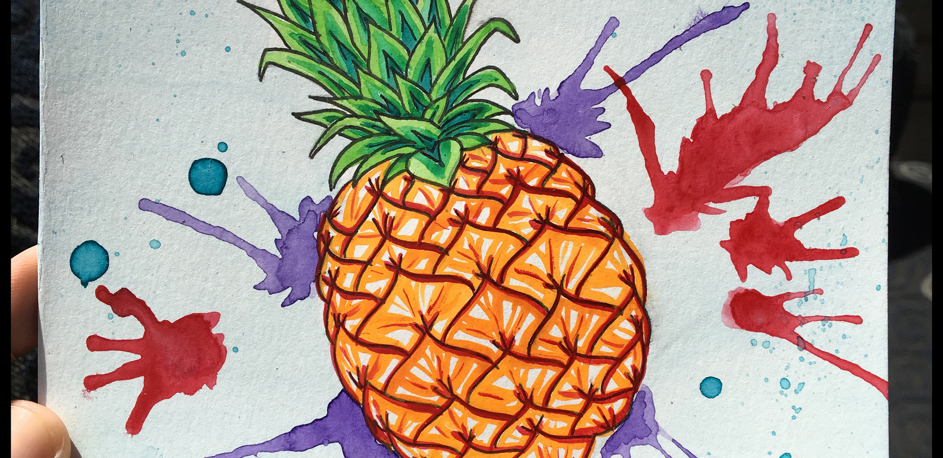 custom-card-pineapple-watercolor-paint-s