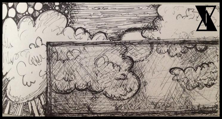 Window of Philosophical Symposium Sketch