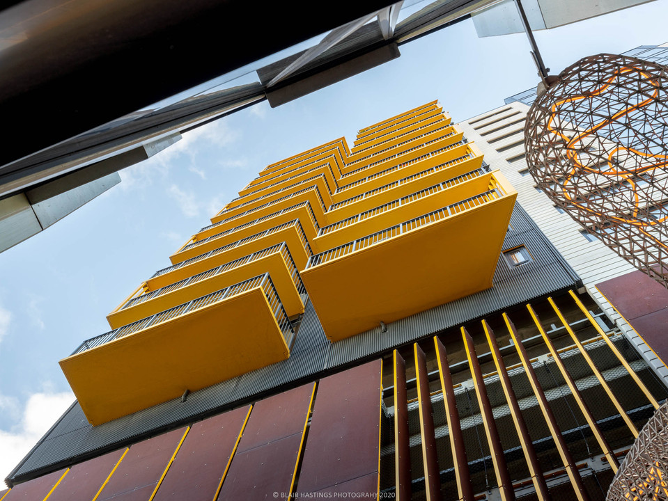 EXTERIOR - APARTMENTS - YELLOW