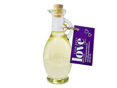 Love your Body Bath oil flask incl oil (250 ml)