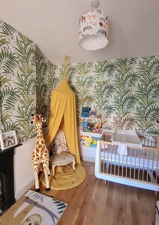 Jungle themed nursery