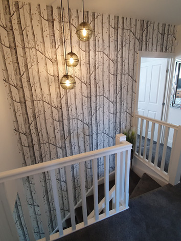 Tree Wallpaper on a staircase