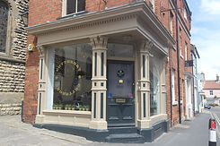 Farrow & Ball's Black Blue and London Stone Exterior painted Barbershop