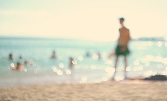 Abstract Man on Beach