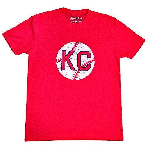 KC Monarchs Baseball Tee - Red