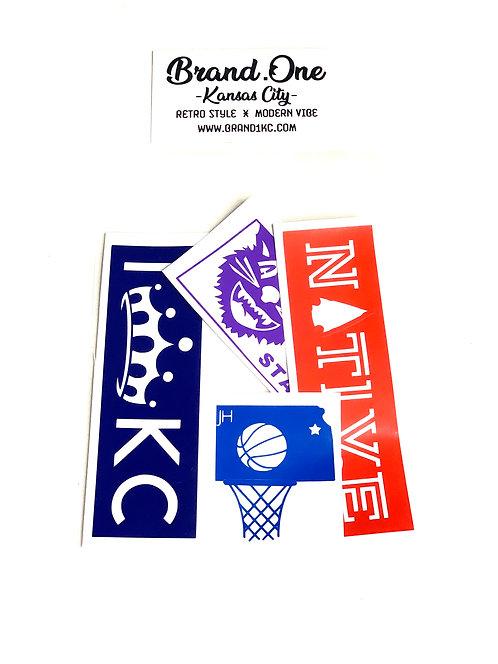 Kansas City Sticker Pack - Set of 4