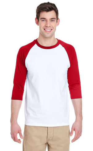 Gildan - Heavy Cotton™ Raglan Three-Quarter Sleeve T-Shirt - 5700