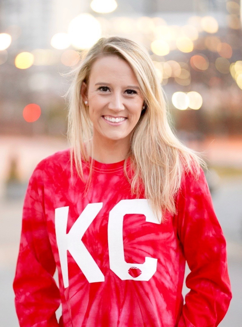 KC Football - Long Sleeve Tie Dye