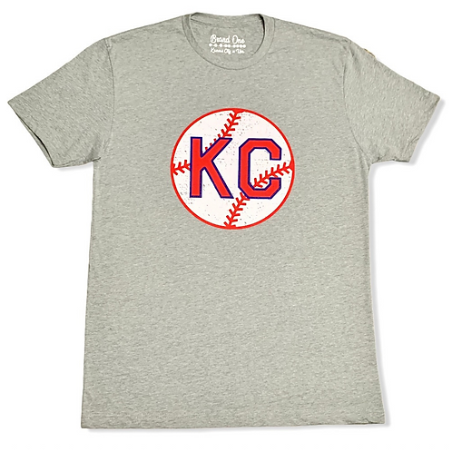 KC Monarchs Baseball Tee - Grey