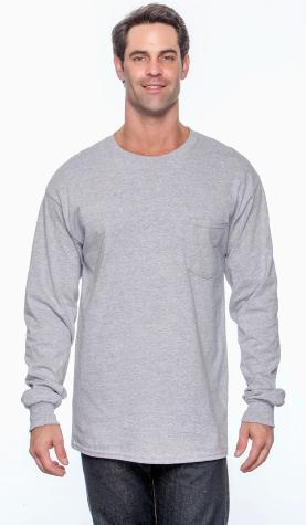 Gildan - Ultra Cotton® Long Sleeve Pocket T-Shirt - 2410