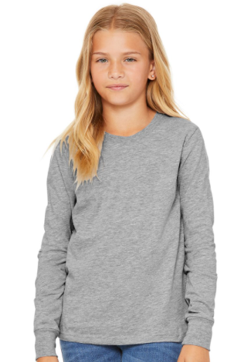 BELLA + CANVAS - Youth Jersey Long Sleeve Tee - 3501Y