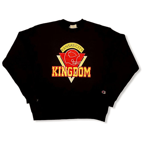 Retro Kingdom Crewneck - Black