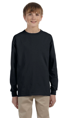 JERZEES - Dri-Power® Youth Long Sleeve 50/50 T-Shirt - 29BLR