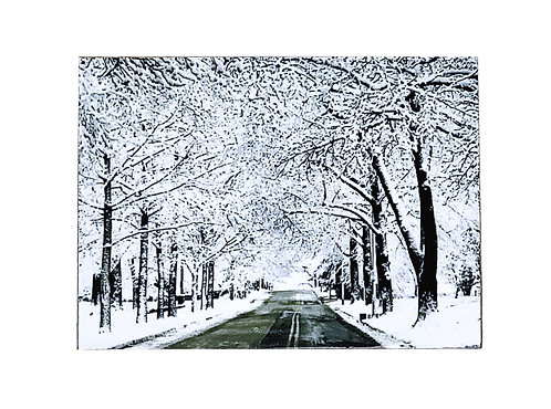 Winter Roads - Wall Magnet