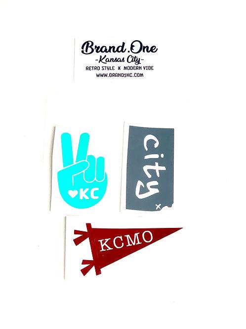 Kansas City Sticker Pack - Set of 3