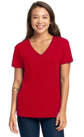 Next Level - Women's Fine Jersey Relaxed V T-Shirt - 3940