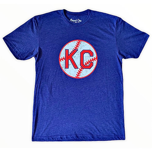 KC Monarchs Baseball Tee - Navy