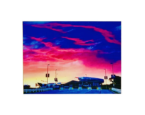 Arrowhead Stadium Sunset - Wall Magnet