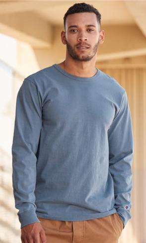 Champion - Garment Dyed Long Sleeve T-Shirt - CD200
