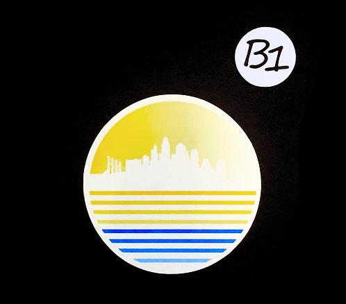 Summer Time Skyline - Sticker