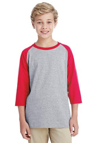 Gildan - Heavy Cotton™ Youth Raglan Three-Quarter Sleeve T-Shirt - 5700B