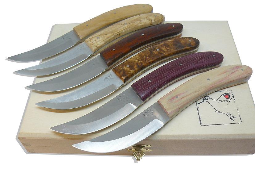 Couteau de table Oie et manche en bois Musso / G2L