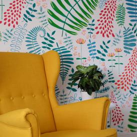 funky-interior-plant-mural-sarah-dowling