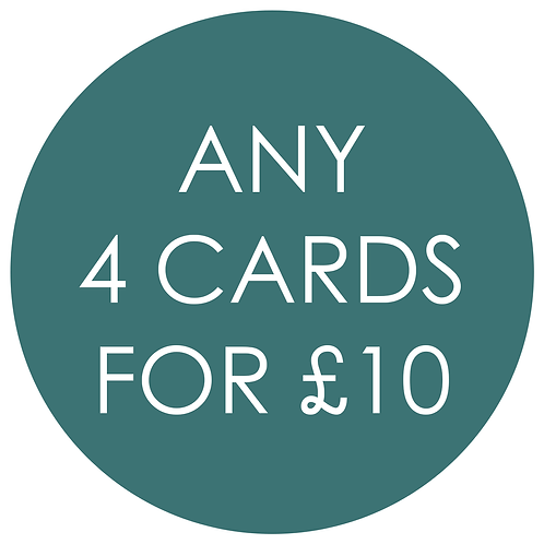 Mix and Match any 4 Cards for £10
