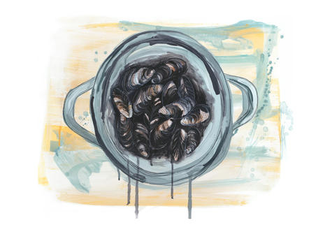 splashy-bowl-of-mussels-painting-sarah-d