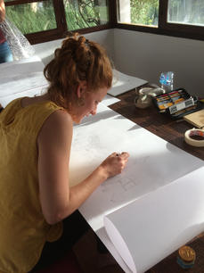 bee-time-panorama-pencil-sketch-sarah-do