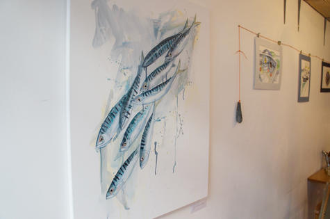 cafe-exhibition-mackerel-painting-sarah-