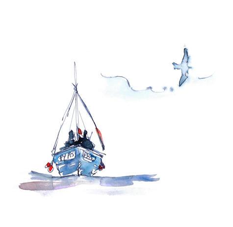 watercolour-sailing-boat-and-seagul-sara