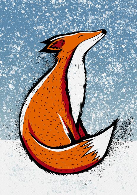 Japanese Fox Art Print
