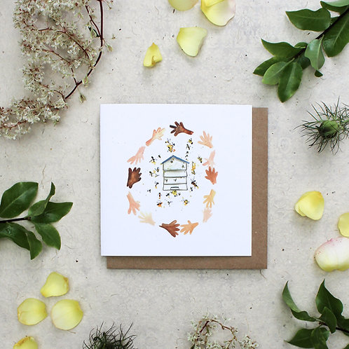 Hand and Hive Card
