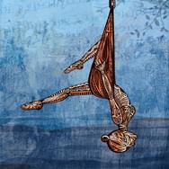 Aerial Yoga Illustration