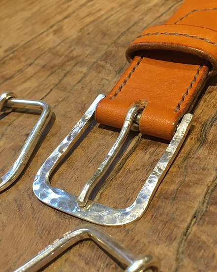 Solid Sterling Silver 925 Buckle Belt   (to order)
