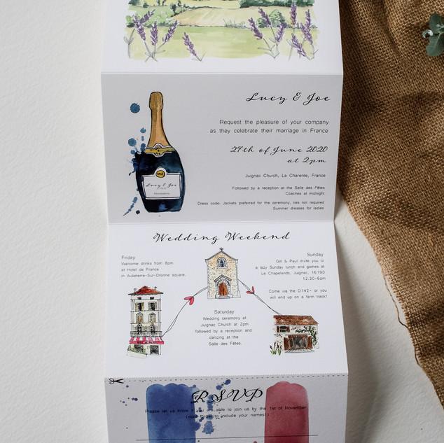 Folding-watercolour-wedding-invite-sarah