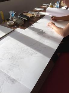 bee-time-panorama-sketch-sarah-dowling-b