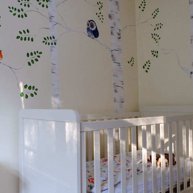 nursery-decor-hand-painted-forest-mural-