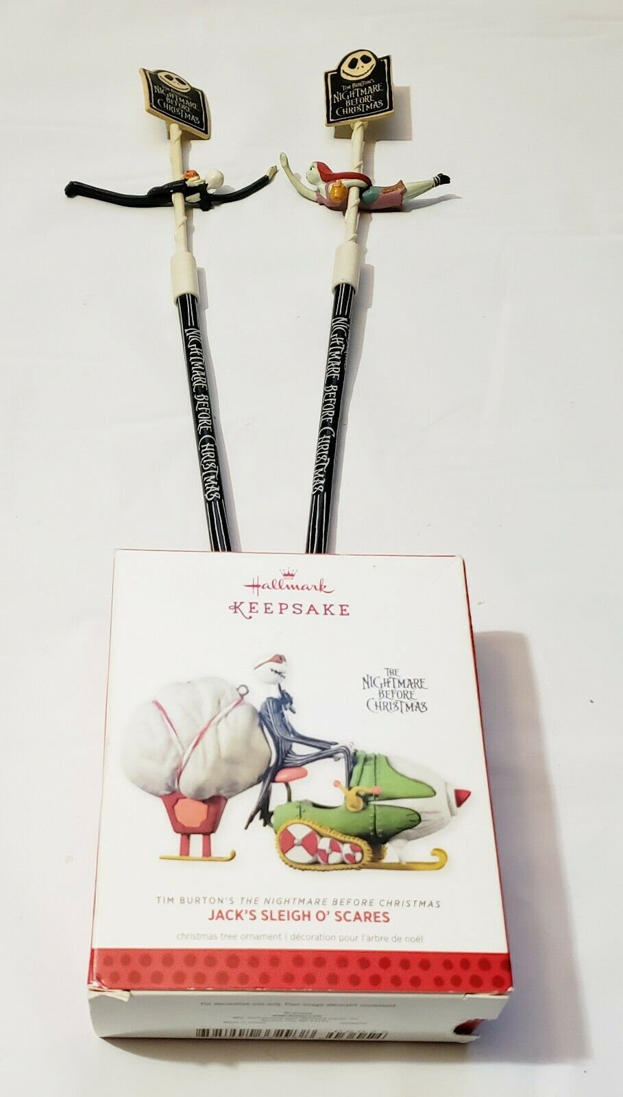 Hallmark Nightmare Before Christmas Ornaments.Hallmark The Nightmare Before Christmas Jack S Sleigh O Scares Ornament Seekers