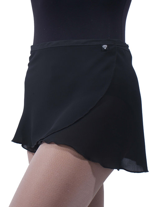 WS37 Wrap Skirt: Black