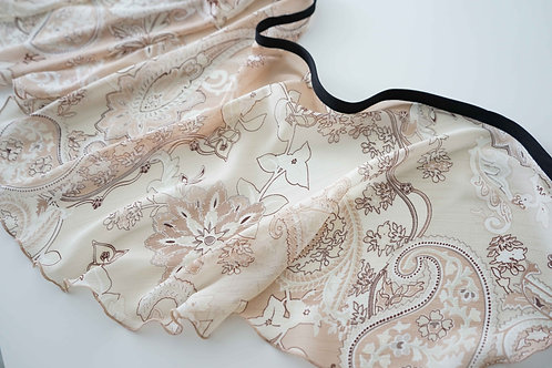 WS189 Wrap Skirt: Paisley Sand Dunes