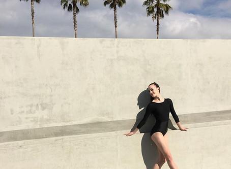 Instagram's @bunhead1027 Abby Callahan in the Royal Leotard
