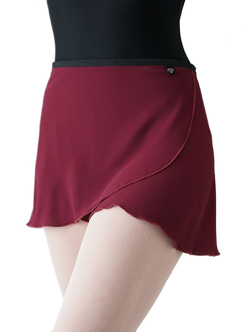 WS195 Wrap Skirt: Burgundy