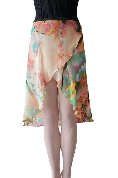 Long Wrap Skirt: Honeycomb