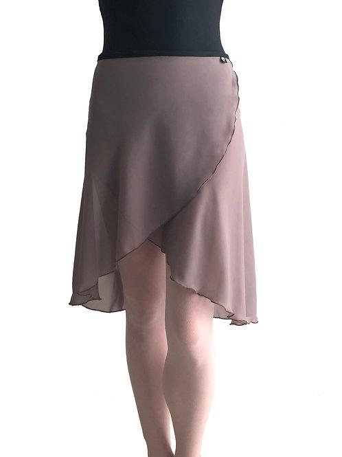Long Wrap Skirt: Mushroom
