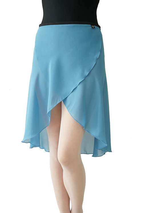 Long Wrap Skirt: Cornflower Blue