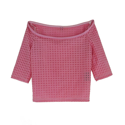 Crop Top Overlay: Pretty in Pink