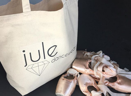 NEW Canvas Jule Dancewear Tote Bags! $15