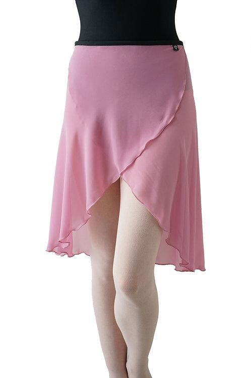 Long Wrap Skirt: Rose